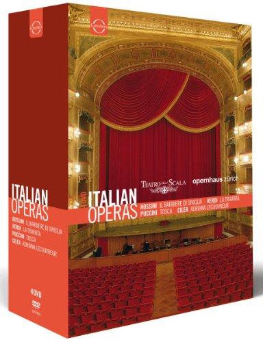 Italian Operas: Il Barbiere di Siviglia/La Traviata/Tosca/Andriana Lecouvreur by EuroArts