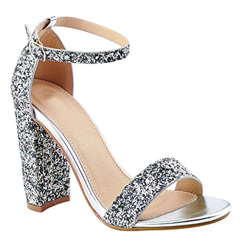 Glitter Ankle Strap Sandal - 5