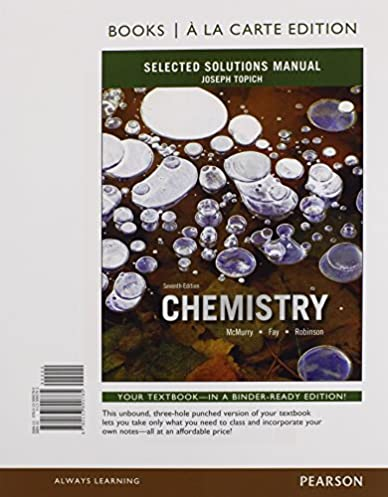 selected solutions manual for chemistry books a la carte edition rh amazon com Test Bank Solutions Manual Textbook Solution Manuals