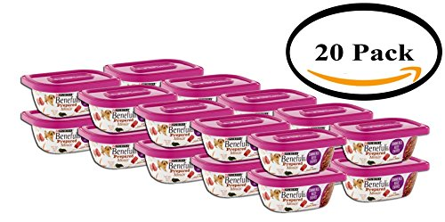 PACK OF 20 - Purina Beneful Prepared Meals Simmered Beef Entree Dog Food 10 oz. Plastic Tub by Purina Beneful