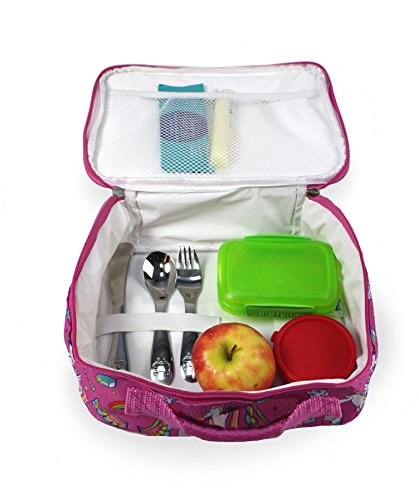 Keeli Kid's Lunch Box Pink Unicorn with Pink Sandwich Cutter in Unicorn Pink by Keeli Kids (Image #3)