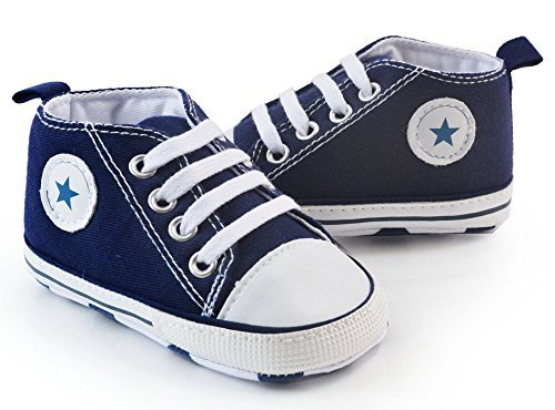Baby Shoes Sneakers - Itaar Prewalker Infant Sweet Canvas Sneaker Anti-skid Soft Shoes Trainer 3-18 Months