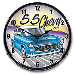 1955 Chevy LED Wall Clock, Retro/Vintage, Lighted, 14 inch