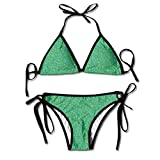 Green Stars Fashion Bikini Set Two Pieces Beachwear Underwear