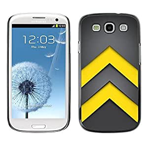 GagaDesign Phone Accessories: Hard Case Cover for Samsung Galaxy S3 - Minimalist Yellow Arrows