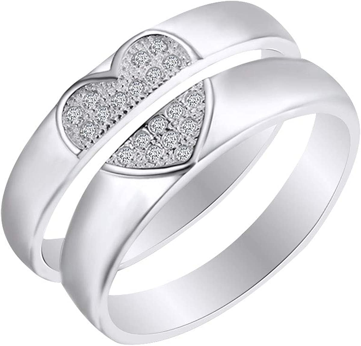 Heart~  Sterling Silver  Promise Ring ~Size 8 2 cttw White C.Z