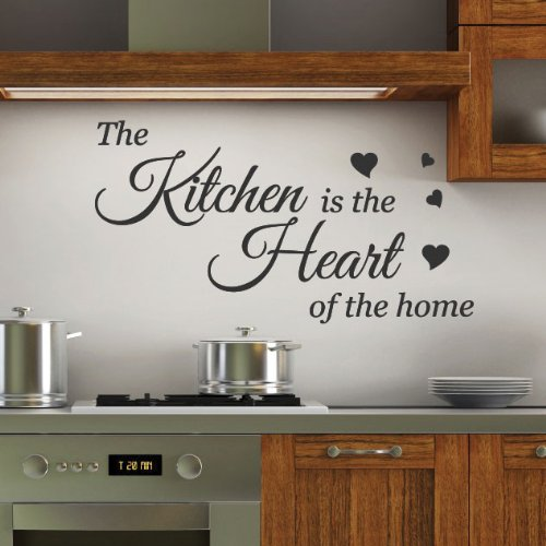 Kitchen Is The Heart Wall Quotes Stickers Decals Arts Decoration Buy Online In Andorra At Desertcart Com Productid 54666056