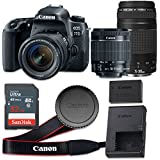 Canon EOS 77D 24.2 MP CMOS Digital SLR Camera with 3.0-Inch LCD with EF-S 18-55mm f/4-5.6 IS STM Lens and EF 75-300mm f/4-5.6 III Lens - Wi-Fi Enabled (Certified Refurbished)