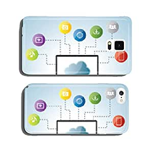 Cloud computing and social medias cell phone cover case iPhone6