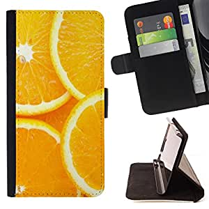 Super Marley Shop - Leather Foilo Wallet Cover Case with Magnetic Closure FOR Sony Xperia Z2 L50t L50W L50U- Orange Food