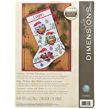 Dimensions Needlecrafts 70-08951 Holiday Hooties Stocking Counted Cross Stitch Kit