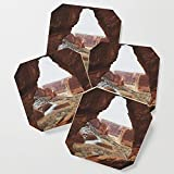 Society6 Drink Coasters, Window Rock by kevinruss, set of 4