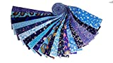 20 2.5'' SEA OF BLUE JELLY ROLL-20 patterns- 1 of eachWOF