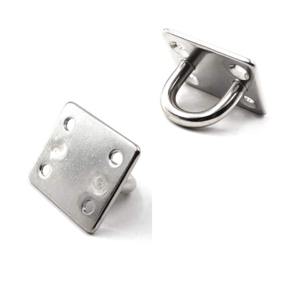 Marine Hardware Staple Hook Loop HOMPER 304 Acero Inoxidable Oblong Pad Eye Plate y Mosquet/ón Clips