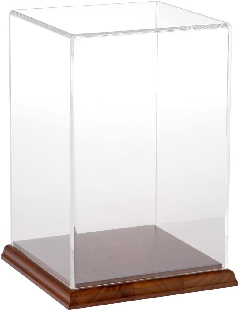 Plymor Clear Acrylic Display Case with Hardwood Base 6 W x 6 D x 9 H