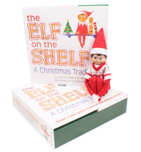 Elf on the Shelf: A Christmas Tradition and Blue Eyed North Pole Elf Boy with Jersey (Christmas Elf Toy)