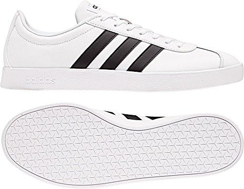 adidas VL Court 2.0, Zapatillas de Gimnasia Para Hombre Blanco (Ftwbla/Negbas/Negbas 000)
