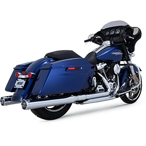 Vance & Hines 16780 Chrome Monster Round Slip-on Mufflers for 2017-Newer Harley-Davidson M8 Touring Models ()
