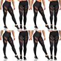 High Waist Fitness Yoga Sport Pants Mesh Stretchy Workout Sportys Yoga Leggings Ninth Pants