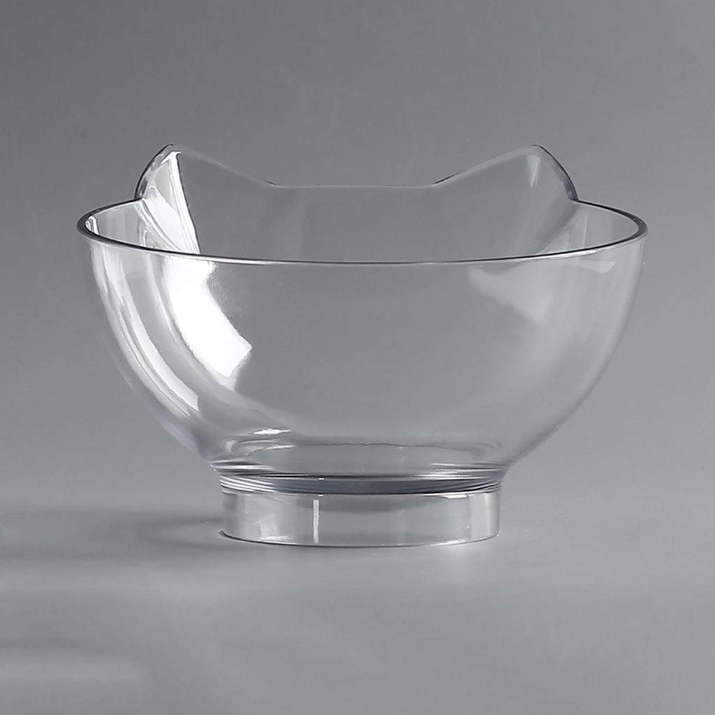 Pet Supplies : Pet Bowl Cat Double Ceramic Dog Supplies Transparent Bracket Food for Animal Dish Rack Table Basin (Color : B, Size : M.27.5x13.5x7cm) ...