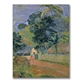 This ready to hang, gallery wrapped art piece features a woman and horse on a lawn. Caspar Friedrich, besides being a Romantic, was a pioneer of the symbolic landscape. He used trees, mist, mountains and the light of sunset (in particular) to symboli...