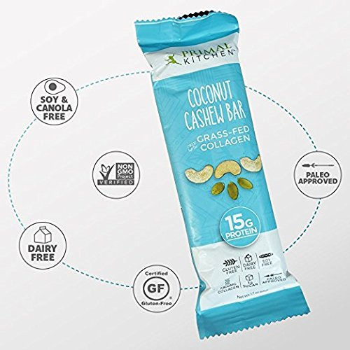 Primal Kitchen – Coconut Cashew, Dark Chocolate and Hazelnut Protein Bars, Variety 3 Pack – Made with Grass–Fed Collagen (Protein), Hazelnuts & Organic Fair–Trade Cocoa (18 Bars Total) by Primal Kitchen (Image #6)