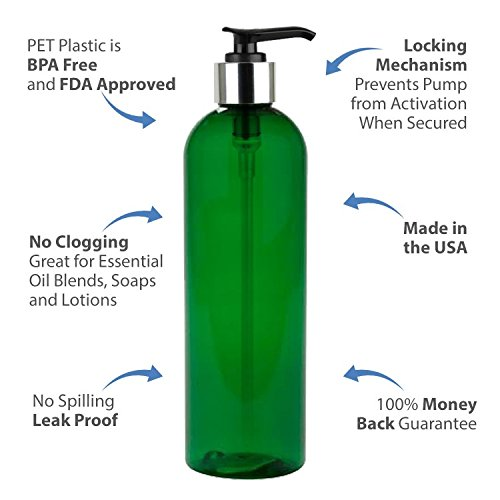 65a12535bd60 Details about 8oz Empty Lotion Pump Soap Dispenser Refillable Bottle Green  PET Container 12PK