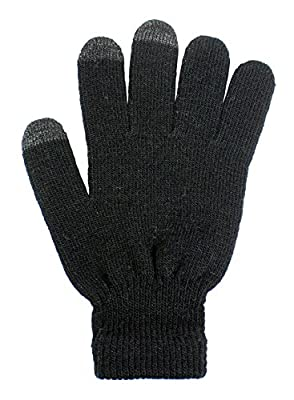 LL- Womens Winter Touch Screen Gloves for Smartphone Texting Knit Magic Gloves
