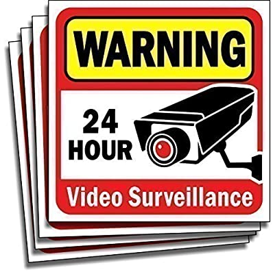 Video Security Surveillance Sticker Decals Sign for Home/Business