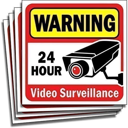 4 X CCTV IN OPERATION IN THIS VEHICLE STICKERS SIGNS STICKER