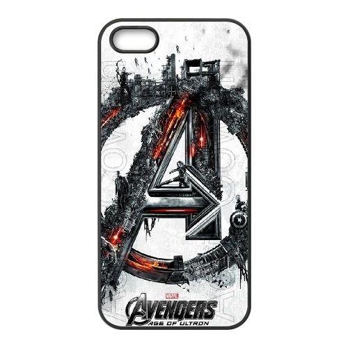 Avengers Age Of Ultron coque iPhone 4 4S Housse téléphone Noir de couverture de cas coque EBDOBCKCO12480