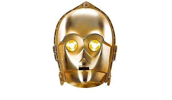 Máscara de Cartón | Antifaz C-3PO | Mascarilla Robot | Careta Star Wars: Amazon.es: Juguetes y juegos