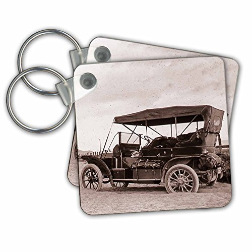 3dRose Model T Touring Edition Stuck in San Sierra Valley California 1910 - Key Chains, 2.25
