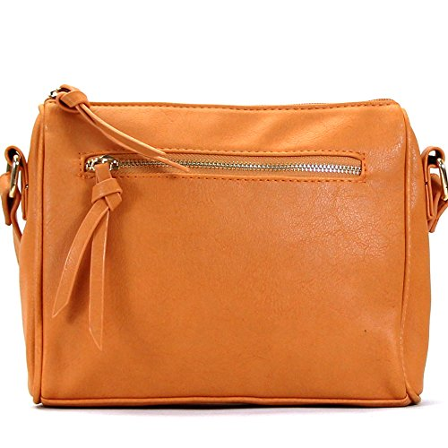 Pop Fashion Crossbody Bags for Women Multi-Pocket Zipper Pouch Shoulder Bag Crossbody Clutch Purse Handbags for Women, Ladies, Girls, Best Gifts, Travel bag, Pocket Book Evening Bag - Saddle