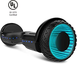 """WORMHOLE Off Road Hoverboard Dual Motors Electric Self Balancing Scooter 6.5"""" Two Wheel Self Balancing Hoverboard"""