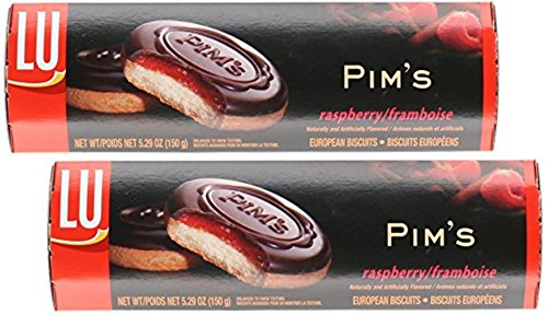 - LU European Biscuits Pims Raspberry Biscuit, 5.29 oz (Pack of 2)