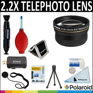 Polaroid Studio Series - Juego de 2 lentes de teleobjetivo HD + kit de accesorios de limpieza ...