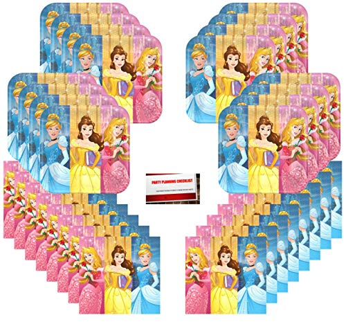 Disney Princess Dream Big Birthday Party Supplies Bundle Pack for 16 Guests Aurora Cinderella Belle (Plus Party Planning Checklist by Mikes Super Store) (A List Of All The Disney Princesses)