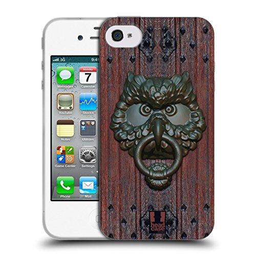 Head Case Designs Gufo Battiporta Cover Morbida In Gel Per Apple iPhone 4 / 4S