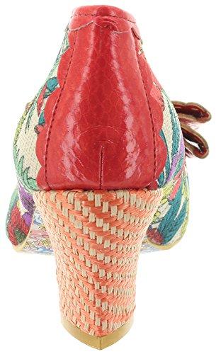 Irregular Choice - Sandalias con cuña Mujer coral multi