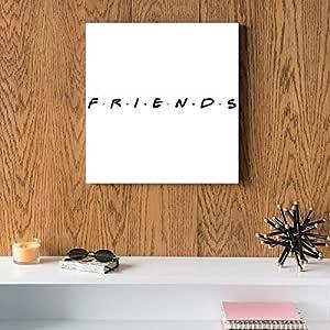 Friends MDF Wall Art 30x30 Centimeter