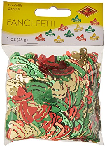 Fanci-Fetti Sombreros (red, gold, green) Party Accessory  (1 count) (1 Oz/Pkg) -