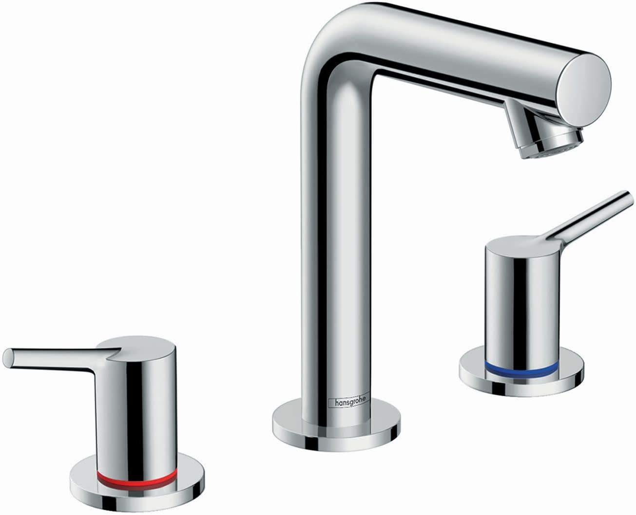 hansgrohe Talis S Modern Premium Easy Clean 2-Handle 3 7-inch Tall Bathroom Sink Faucet in Chrome, 72130001