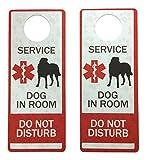 Leashboss Service Dog Door Hanger – Plastic – 2 Pack – Do Not Disturb Hotel Hanging Sign for Door Knobs For Sale