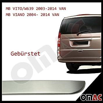 Für Mercedes Viano W639 2003-2014 Heckleiste Kofferraumleiste Edelstahl Chrom