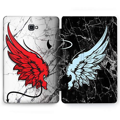 (Wonder Wild Angel and Devil Samsung Galaxy Tab S4 S2 S3 A E Smart Stand Case 2015 2016 2017 2018 Tablet Cover 8 9.6 9.7 10 10.1 10.5 Inch Clear)