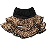 Hot-Sale [Leopard] Little Girls Latin Dance Skirt Soft Practice Dress Asian M