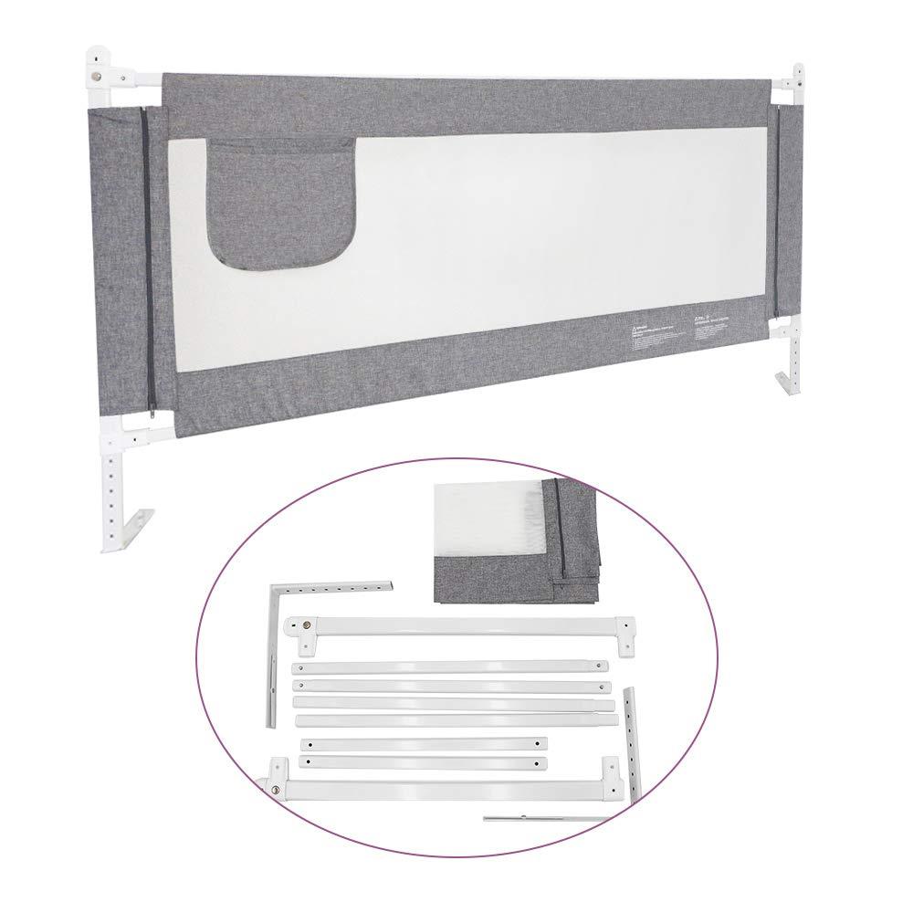 180cm, Gris, 1pc ZEHNHASE Barri/ère de Lit Enfants B/éb/és Protection Bord de Lit pour S/écurit/é des Enfants B/éb/és Portable Bedrail Safetyguard