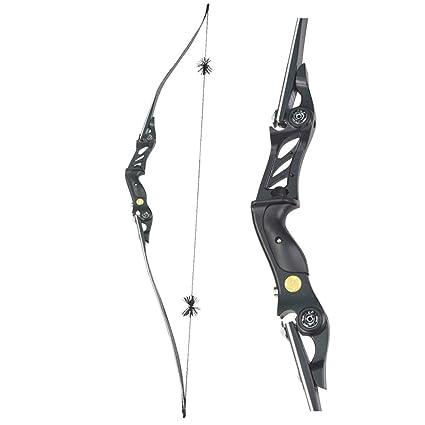 Amazoncom Zshjg 60 Take Down Long Bow Recurve Bow Metal Riser