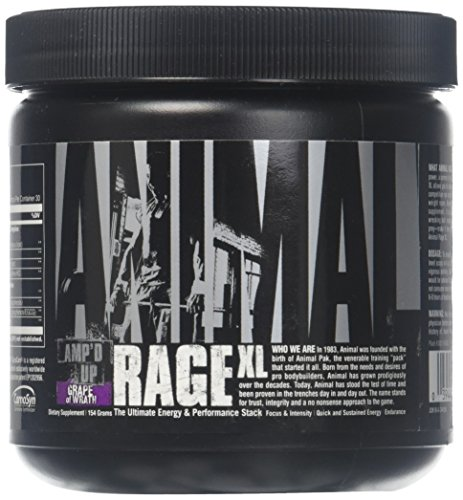 Animal Rage XL - Pre Workout Ultimate Energy and Performance Stack, Grape of Wrath